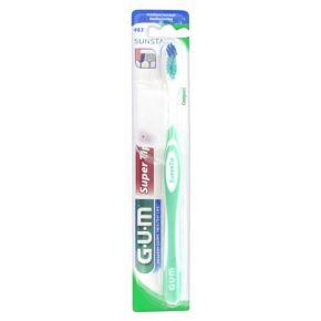GUM Brosse à Dents SuperTip Médium 463 Couleur : Vert - 1 unité
