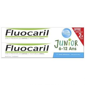 Fluocaril Junior Dentifrice bubble 6-12 ans - Lot de 2 x 75ml